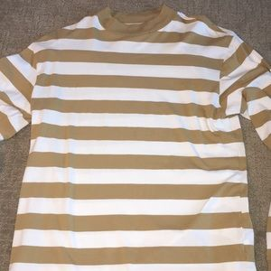 Medium PacSun Mustard Yellow and White striped.